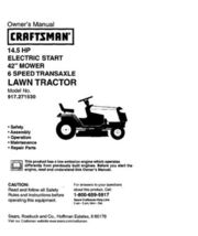 4 Sears Craftsman 14.5 HP Riding Mower Tractor Manuals - $7.99