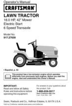 41 Sears Craftsman 18 HP Riding Mower Tractor Manuals - $7.99