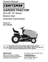 5 Sears Craftsman 26 HP Riding Mower Tractor Manuals - $7.99