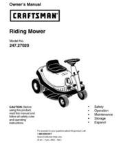 51 Sears Craftsman Riding Mower & Lawn Tractor Manuals - $7.99