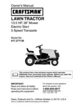 8 Sears Craftsman 13.5 HP Riding Mower Tractor Manuals - $7.99