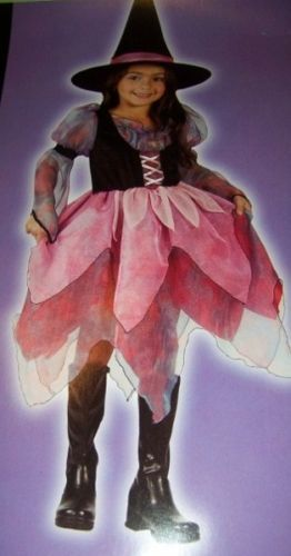 Wonderful Witch Girls Costume SZ Med 8-10 Colorful NEW