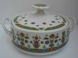 SANGO HELLESPONT one world 8001 covered Serving Bowl Lid modern Japan Floral - $65.33