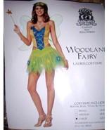 Ladies Sexy Woodland Fairy Costume SZ LG 12-14 NEW Wing - $32.00