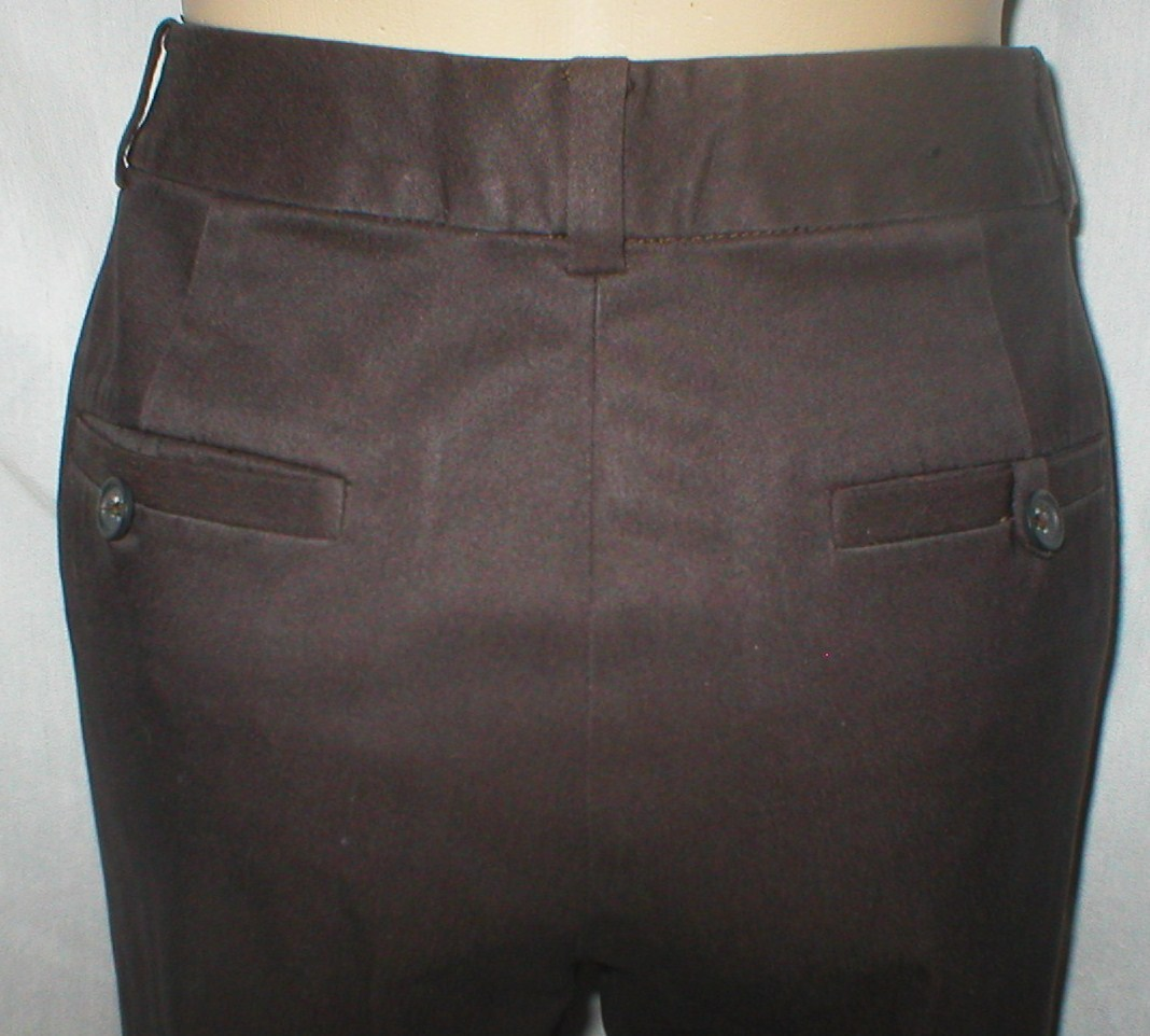 Banana Republic Harrison Brown cotton blend casual cropped capri pants 4