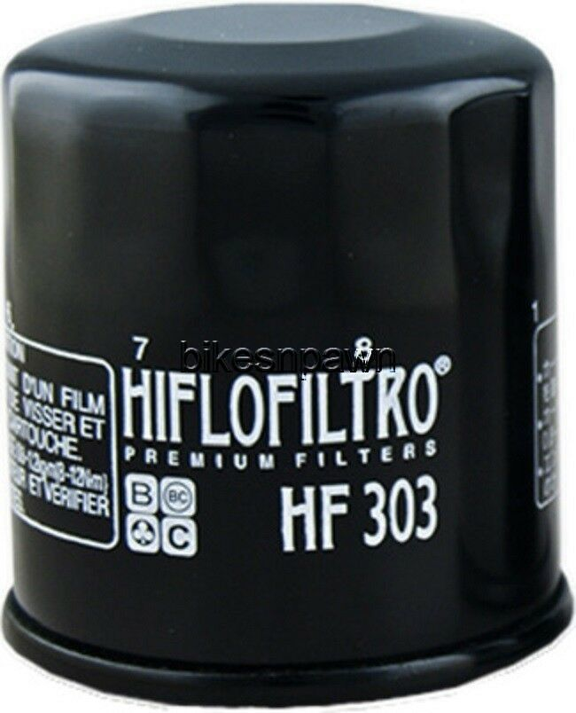 New HiFloFiltro HF303 Black Oil Filter for Honda Kawasaki HiFlo