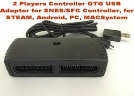 2 Players Controller OTG USB Adaptor for SNES/SFC Controller, for STEAM, - $23.31