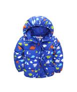 Winter Boys Jackets Hooded Warm Dinosaur Coats For Baby Boys Thick Long ... - $31.56