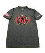 REEBOK Spartan Race FINISHER Shirt Size Small Adult Stone Gray Tee Short Sleeve - $17.83