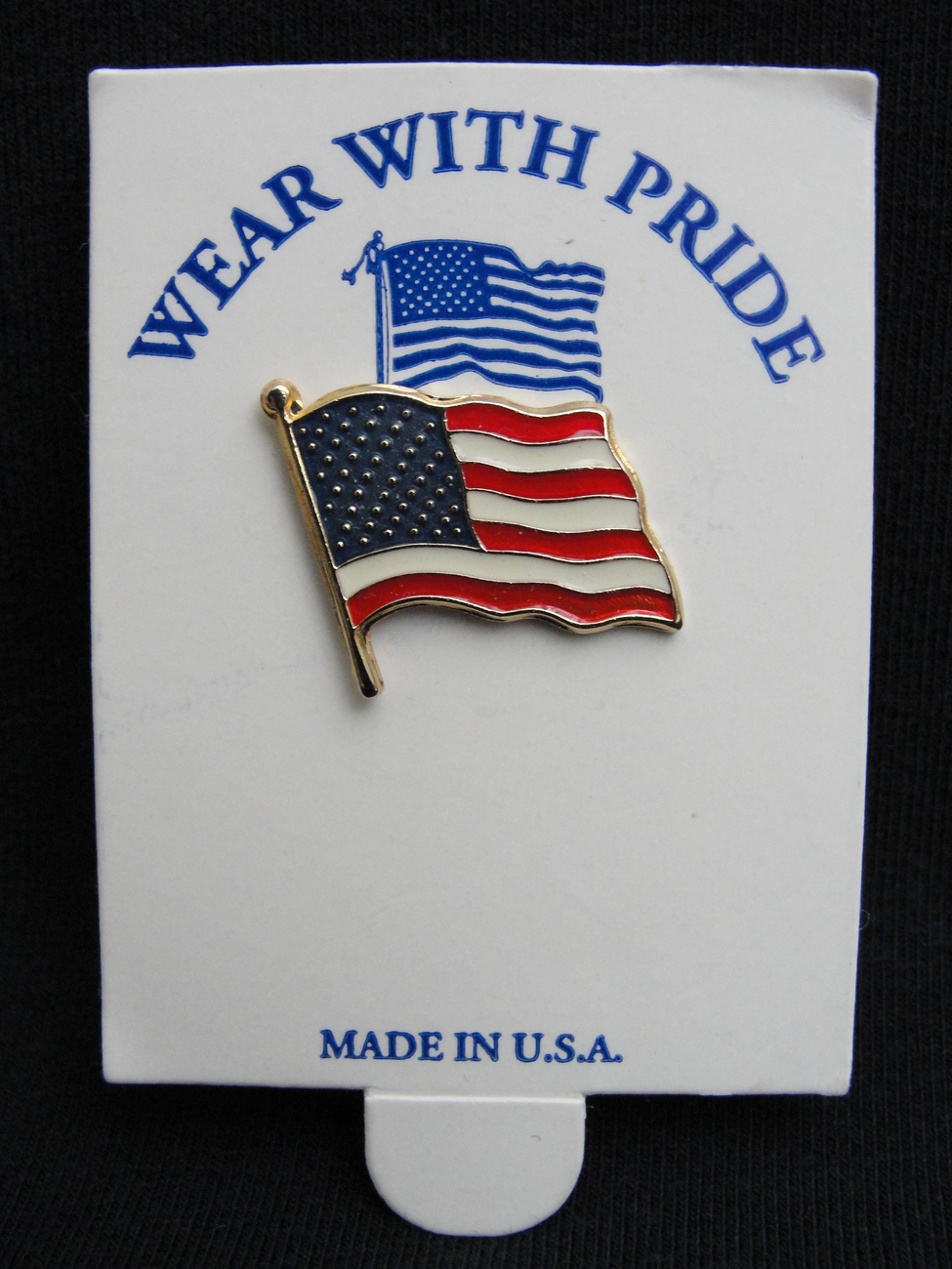 Lapel Pin USA United States of America Flag Wear With Pride Red White and Blue