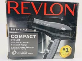 Revlon ESSENTIALS Compact Styler Hair Dryer RVDR5034 2 Heat / Speed Settings - $18.76