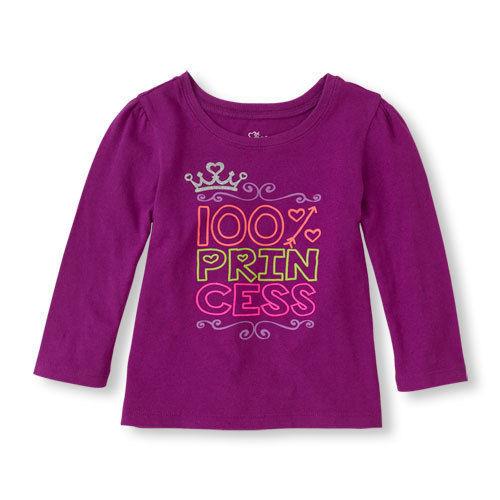 9feece72d Children's Place Toddler GirlsT-Shirt Sizes 18/24 M 3T 4T 5T NWT100%  Princess - $5.84