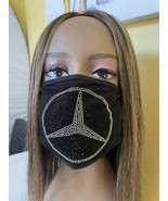 Mercedes Benz Rhinestone Bling Face Mask Washable AB Color - £13.27 GBP