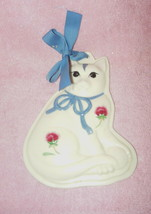 VINTAGE LENOX PORCELAIN POPPIES ON BLUE KITTEN CAT COOKIE PRESS MOLD - $18.99