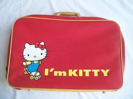 Sanrio Hello I'm Kitty Vintage 1976 Child's Suitcase - $39.95
