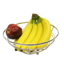 "11"" Silver Chrome Steel Wire Kitchen Counter Fruit Vegetable Basket - $14.29"