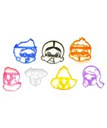 Bubble Guppies Merperson Cartoon Character Set of 7 Cookie Cutters USA P... - $19.99