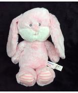 Aurora World Huggie Bunny Rabbit Pink Striped Crinkle Feet Plush Stuffed... - $47.40