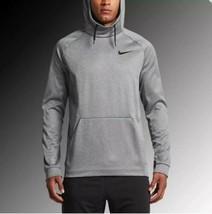 Nike Therma Fit hoodie pullover Sweatshirt 826671 091 carbon heather Siz... - $56.10