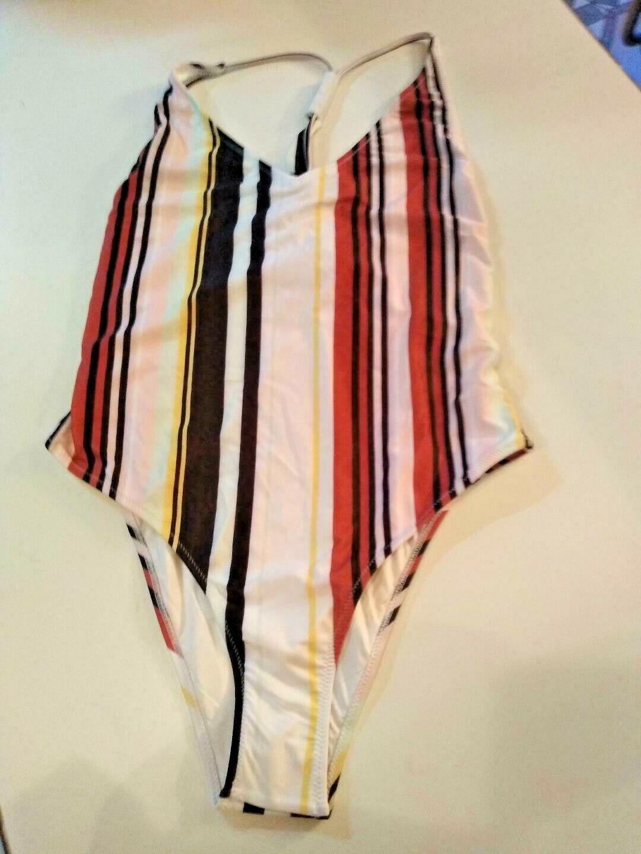Volcom Earn Your Stripes One Piece Swimwear Size Medium