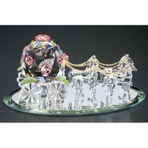 Crystal World Fantasy Cinderella Coach ( Med )  Figurine New In Box - $168.29