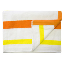 Jumbo Calypso Stripe Cabana Beach Pool Cotton Towel 30 x 60 Mango/Lemon ... - $107.10