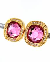 Vintage Swarovski Earrings  Large 3/4 Inch Pink Crystals  Lovely Bridal ... - $139.00