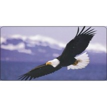 soaring eagle on clouds photo animal nature metal license plate usa made - $27.07