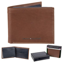 Tommy Hilfiger Men's Leather Bifold RFID Blocking Wallet With Zipper Coin Pocket image 1