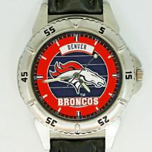 Denver Broncos NFL Fossil New Unworn Vintage Watch, Mens Black Leather Band! $98 - $97.86