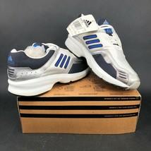 Adidas Cetus Damen 7.5 Geschnürt Weiß Silber Blau Laufschuhe 2000s Vintage - $41.41
