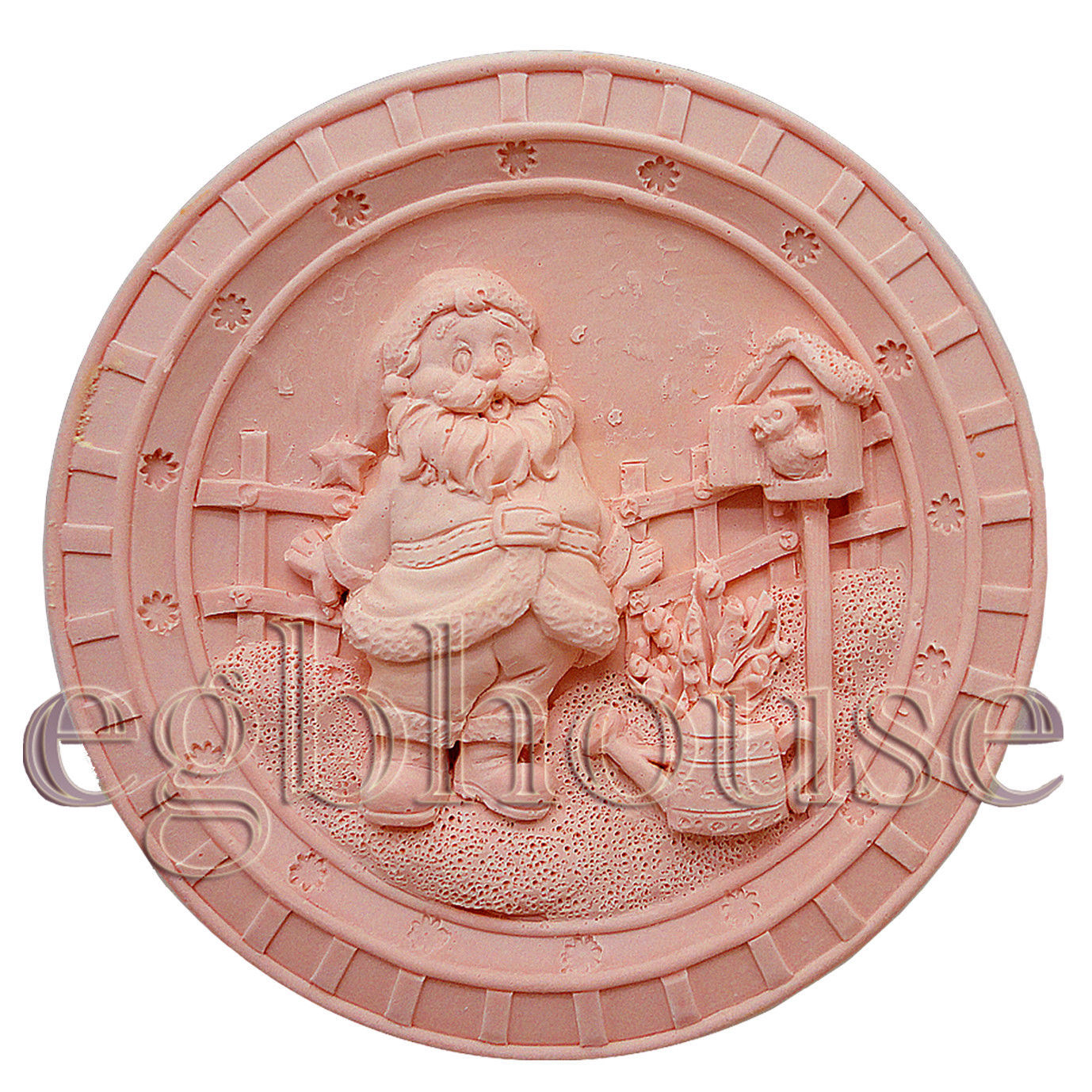Mermaid Wendy with Fish Detail of high relief sculpture Silicone Soap Mold