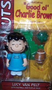 Peanuts Lucy Van Pelt Figure NEW Football Display Base