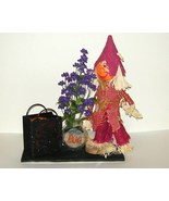 Halloween Scarecrow Witch Treat Bag Candle Hold... - $15.00