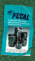 Kmart Focal Automatic Diaphragm Lenses & Tele Converters Instruction Boo... - $3.00