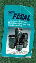 Kmart Focal Automatic Diaphragm Lenses & Tele Converters Instruction Boo... - $3.00