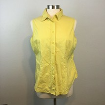 Lot of 2 New York & Co. Women's Yellow Plaid Button Front Shirt Size Large - $17.99