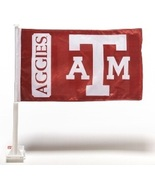 Texas A&M Aggies New College Football Car Window Flag Collegiate Licensed  - $9.29