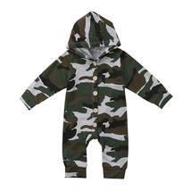 baby boy girls long sleeve camouflage romper clothes - $9.66