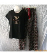 Sex and the City black, white & red pajamas, Single and Fabulous martini... - $11.25