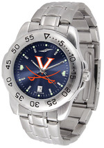 Virginia Cavaliers Men Steel Sport AnoChrome Watch - $78.38
