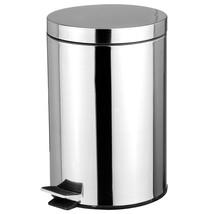 Stainless Steel 5 Liter Foot Pedal Kitchen Office Waste Bin Garbage Tras... - $24.91