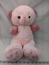 "Pink Bear Plush 21"" Mauve Ears Arms Stuffed Animal Toy - $12.95"