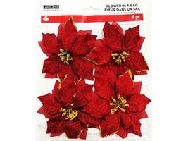 Ashland Christmas Flower in a Bag (Poinsettias) Floral Clips #485753