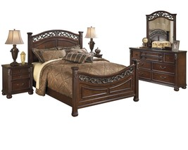 Ashley Leahlyn 5PC Bedroom Set E King Panel - Brown - $2,310.19