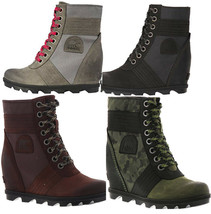 NEW SOREL Women's Lexie Wedge Boot Platform Premium Waterproof, Size 8 - $139.90