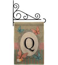 Butterflies Q Initial Burlap - Impressions Decorative Metal Fansy Wall Bracket G - $33.97