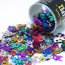 Number 30 and Stars Multicolor Confetti Bag 1/2 Oz FREE SHIPPING CCP9006 - $3.99+