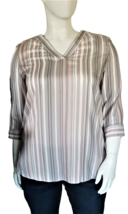 Liz Claiborne Women's V-Neck Blouse Size XL with 3/4 Length Sleeves