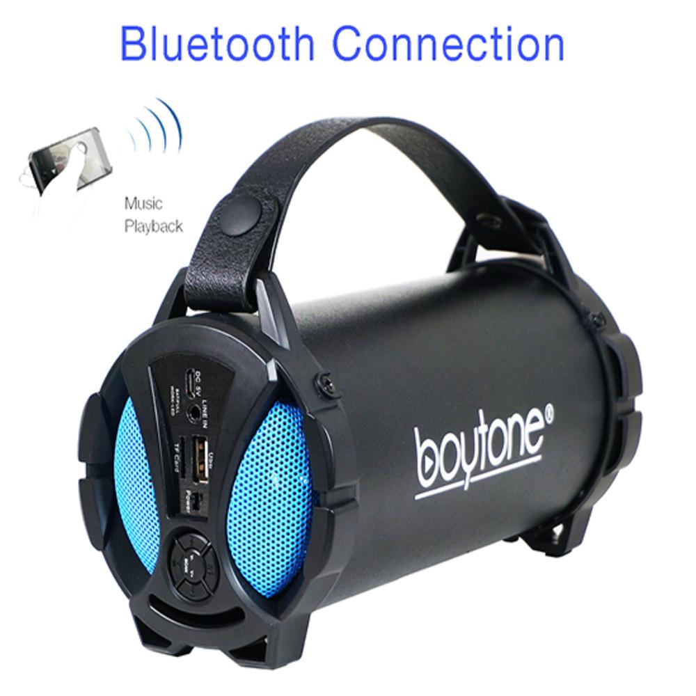 Boytone BT-38BL Portable Bluetooth Indoor/Outdoor Speaker 2.1 Hi-Fi Cylinder Lou